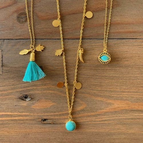 Pink Milk Jewellery eCommerce Website Turquoise Range